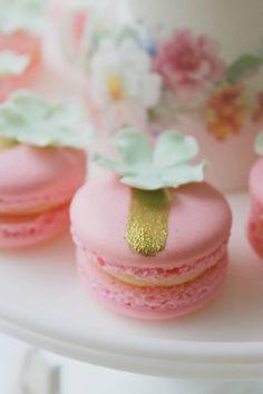Mint Pink Gold Tea Party Planning Ideas Supplies Idea Cake Decorations