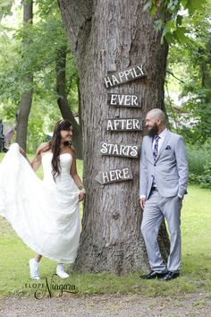 Happily ever after at the Elope Niagara wedding chapel Wedding Chalkboards, Chalkboard Wedding, Chapel Wedding, Happily Ever After, Niagara Falls, Wedding Photos, Signs, Couples, Wedding Dresses
