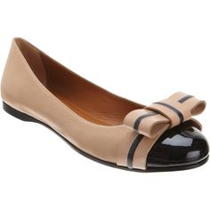 Fendi Bow Ballet Flat ($339) ❤ liked on Polyvore