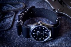 rolex explorer i 36mm with bulang and sons nato