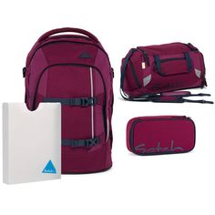 Satch Pack Schulrucksack Set 4tlg Pure Purple