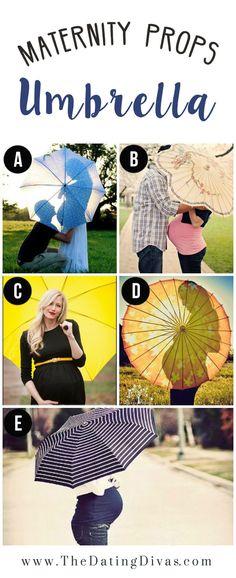 Prop Ideas for Maternity Photography- I love the silhouette the umbrella creates!  Cute!