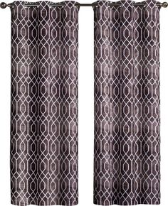 Andreas Printed Saxton Grommet Curtain Panels
