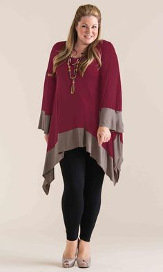 Marlo Tunic in Ruby / MiB Plus Size Fashion for Women / Winter Fashion / http://www.makingitbig.com/product/4719