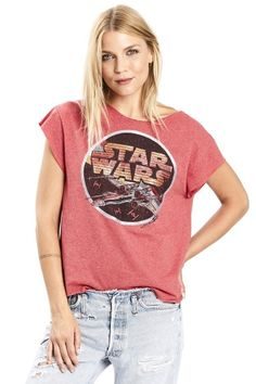 STAR WARS VINTAGE BOATNECK TEE from Karen Zambos Star Wars Outfits, Vintage Couture, Vintage Tees, Formal Wear, Fashion Accessories, T Shirts For Women, Stars, Womens Fashion, Casual