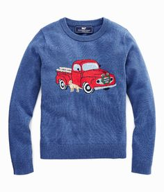 Shop Boys Truck And Wreath Intarsia Sweater at vineyard vines