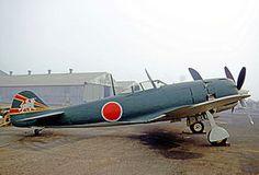 Nakajima Ki-84 Hayate (n° de série 1446[1] immatriculation civile N3385G) sur le tarmac du Ontario Airport (Californie, Etats-Unis) en octobre 1970[2].Il est actuellement exposé au Kamikaze Museum de Chiran (Japon). Il s'agit du dernier Ki-84 Hayate complet existant[3],[4].