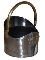 Traditional Steel Coal Bucket with Brass Handles