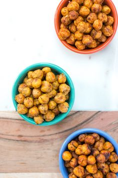 Super crispy roasted chickpeas with options for BBQ, za'atar and sweet chili…