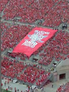 it's crazy for me to think that I'm in this picture holding up that banner. I love this school!