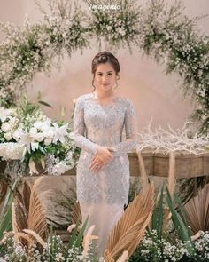 Kebaya Lace, Kebaya Hijab, Kebaya Dress, Kebaya Muslim, Model Kebaya Modern, Kebaya Modern Dress, Kebaya Wedding, Muslimah Wedding Dress, Blue Wedding Dresses