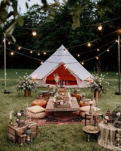 An Evening Wedding Inspiration Shoot with Bell Tents Festival Brides Party Deco, Backyard Birthday, 21st Birthday, Bell Tent, Festa Party, Decoration Design, Event Decor, Glamping, Tent Camping
