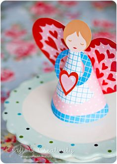 pattern and tutorial for making this Valentine's Day Angel