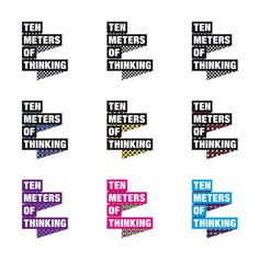 TEN METERS OF THINKING - logo by Leon Dijkstra COOEE, via Behance