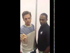 Sebastian Stan and Anthony Mackie respond to Chris Evans's ALS Ice Bucket Challenge Nomination