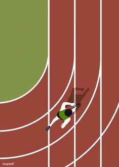 Aerial view of a running track | free image by rawpixel.com Sports Day Poster, Running Posters, Running Track, Free Illustrations, Aerial View, Graphic Design Inspiration, Graphic Illustration, Vector Free, Free Image
