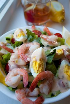 shrimp louis...oh my! i truly have NEVER seen such a good looking light dish...yes, on the to-do list!! <3
