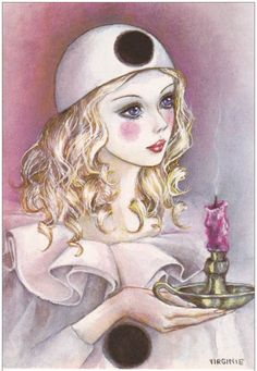 Mis Laminas para Decoupage (pág. 3) | Aprender manualidades es facilisimo.com Pierrot, Clown Paintings, Watercolor Paintings, Storybook Characters, Disney Characters, Illustrations, Illustration Art, Harlequin Mask, Post Apocalyptic Art