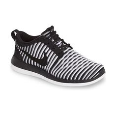 roshe two flyknit sneaker by Nike. Breathable Nike FlyKnit material provides a snug, sock-like fit in a featherweight sneaker made with a padded collar,...