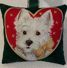 Westie Christmas Gift / Westie Dog Fabric Lavender Bag / West Highland Terrier