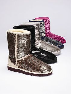 Classic Sparkles Boot - UGG® Australia - Victoria's Secret  Even though I'm not a supporter of the sequined UGG I would definitely wear them if I got them from Victoria's Secret.
