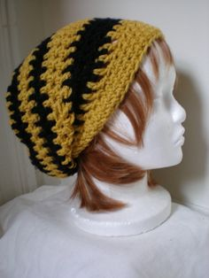 Copley hat in Hufflepuff yellow and black by woolendiversions, $25.00
