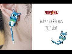 Polymer Clay Tutorial: Happy Earrings (Fairy Tail)