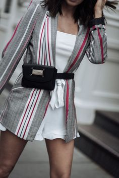 Chic - Flaunt and Center Womens Fashion Online, Latest Fashion For Women, Girl Fashion, Fashion Outfits, Fashion Trends, Frill Shorts, Trendy Swimwear, Striped Blazer, River Island