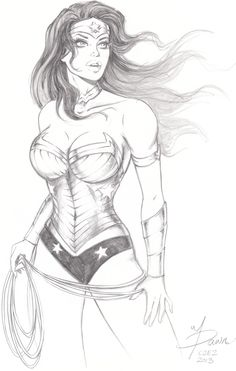 Wonder Woman sketch commission by ~Dawn-McTeigue on deviantART