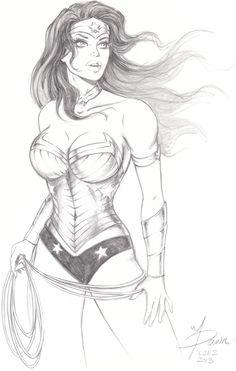 Wonder Woman sketch commission by ~Dawn-McTeigue on deviantART