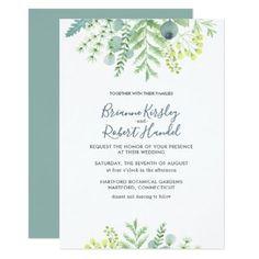 #Fall Eucalyptus Foliage Floral Wedding Invitation - #weddinginvitations #wedding #invitations #party #card #cards #invitation #fall