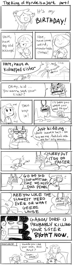 The King of Hyrule is a jerk! LoooL the last frame is the best! #compartirvideos #happybirthday