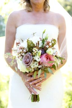 A late summer wildflower bouquet to die for. #CedarwoodWeddings Photo by Mary Rosenbaum