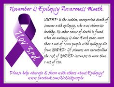 November is Epilepsy Awareness Month...because it matters. Here is our fact of the day for November 3rd. Everyday there will be a new fact. Please ✓Like ✓Comment ✓Share to help spread Epilepsy Awareness ♥ .#epilepsy #epilepsyawareness