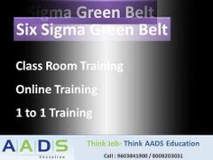 watch this video for more details on six sigma training in AADS Education