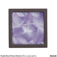 Purple Moon Flower Petals Premium Jewelry Boxes