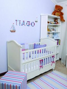 Photo's taken by: Emielke Stylist: Joanita Cillie  For more about this theme, visit yourparenting.co.za Nautical Nursery, Nursery Decor, Get Baby, Cribs, Toddler Bed, Furniture, Home Decor, Cots, Child Bed