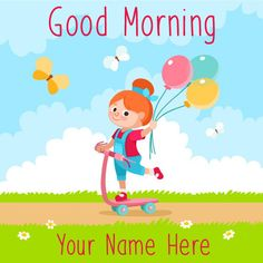 Good Morning Wishes Images Wallpaper Photo Pics with Cartoons Happy Children's Day, Happy Morning, Good Morning Greetings, Good Morning Wishes, Cartoon Kids, Cute Cartoon, Ballon Illustration, Good Morning Cartoon, Balloon Cartoon