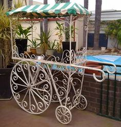 1000 Images About Wrought Iron Vintage Tea Carts On