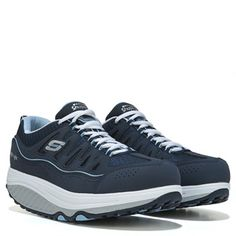 b7ccf90cd2d Skechers Shape Ups 2.0 Comfort Stride Walking Shoe Navy Light Blue Skechers  Shape Ups