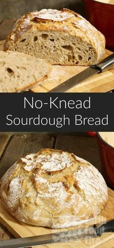 Easy No-Knead Sourdough Bread - Food Meme - A basic sourdough bread requiring minimal effort. This no knead recipe is a great intro to baking sourdough bread from scratch. via The post Easy No-Knead Sourdough Bread appeared first on Gag Dad. Bread Maker Recipes, Easy Bread Recipes, Baking Recipes, Starter Recipes, Cornbread Recipes, Jiffy Cornbread, Muffin Recipes, Easy Sourdough Bread Recipe, Sourdough Bread Starter