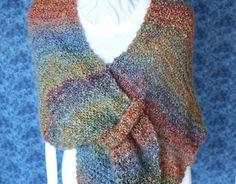 Knitting Pattern Easy to Knit Shawl Pattern by KimberleesKorner