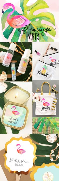 Flamingo Party Ideas | Tropical Bachelorette Party | Flamingo Birthday Party Favors | Tropical Bridal Shower
