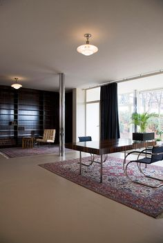 The living area, Villa Tugendhat, Brno, Czech Republic, by Mies van der Rohe. 1930