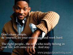 Will Smith on the importance of being yourself.