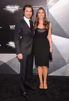 """Christian Bale and wife Sibi Blazic arrive at the New York City premiere of """"The Dark Knight Rises"""" on July 16, 2012."""