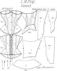 Resultado de imagem para molde de corset