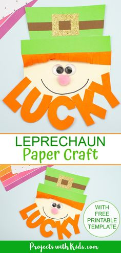Kids will have fun making this adorable paper leprechaun craft for St. Craft Projects For Kids, Crafts For Kids To Make, Crafts For Teens, Craft Kids, Kids Crafts, March Crafts, St Patrick's Day Crafts, Spring Crafts, Spring Art