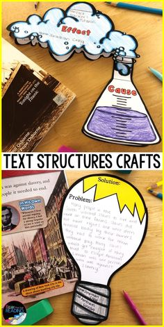 smaller visual projects to reinforce text structuresYou can find Text structures and more on our website.smaller visual projects to reinforce text structures Reading Strategies, Reading Skills, Teaching Reading, Reading Comprehension, Student Teaching, Reading Activities, Nonfiction Activities, Summarize Nonfiction, Types Of Text Structure