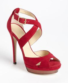 Charming Suede Red Closed Toe Stiletto Heel Pumps